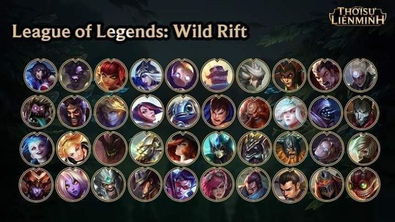 Updated 40 Champion From Royalflare Taptap League Of Legends Wild Rift Community