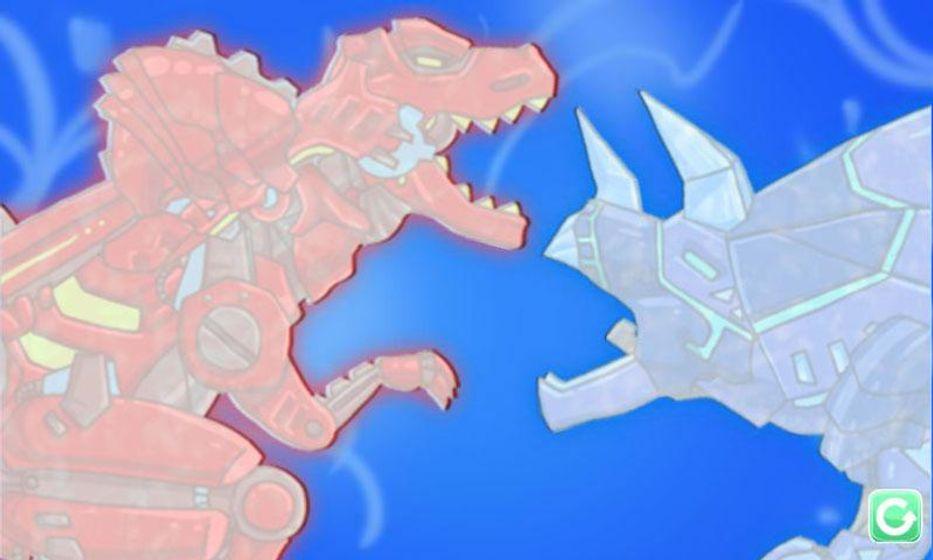 Dino Robot - Tyrano + Tricera2