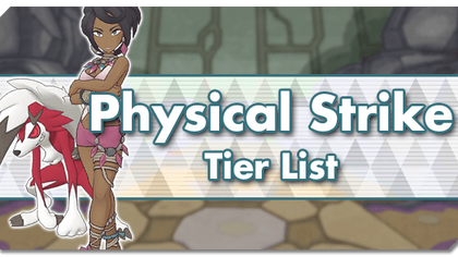 Sync Pairs tire list for Physical Strike, Special Strike, Support & Tech