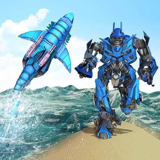 Warrior Robot Shark Game -Transforming Shark Robot