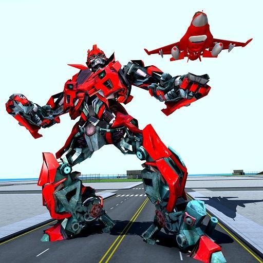Air Robot Game - Flying Robot Transforming Plane